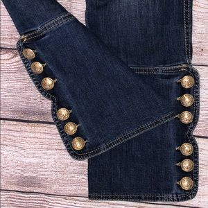 Escada Sport Jeans - The Most Amazing Escada Gold Button Cropped Jeans